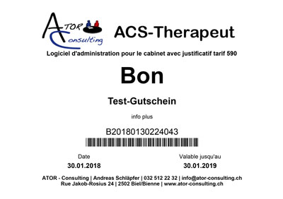 ACS-Therapeut (Tarif 590) Bon