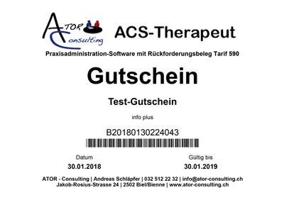 ACS-Therapeut (Tarif 590) Gutschein