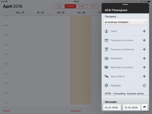 ACS-Therapeut (Tarif 590) sur l'iPad
