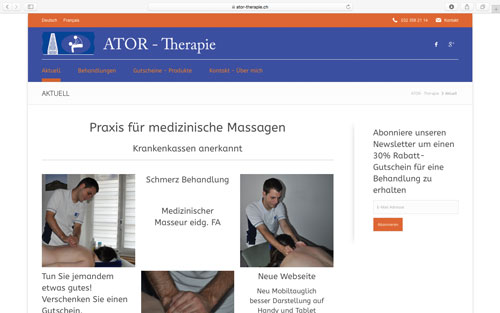Webseite ATOR - Therapie