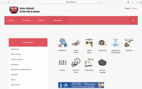 Webseite Bieler Altstadt