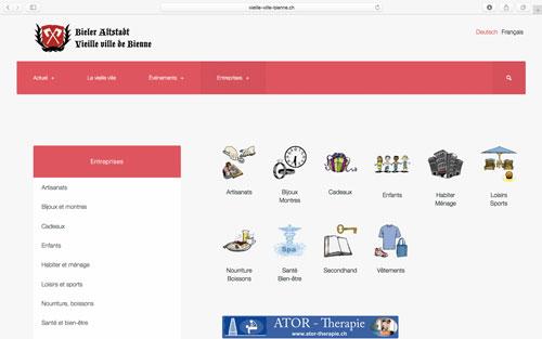 Site web vieille ville de Bienne