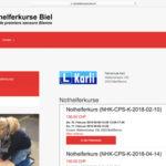 Webseite Nothelferkurse Biel