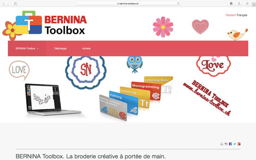 Site web BERNINA Toolbox