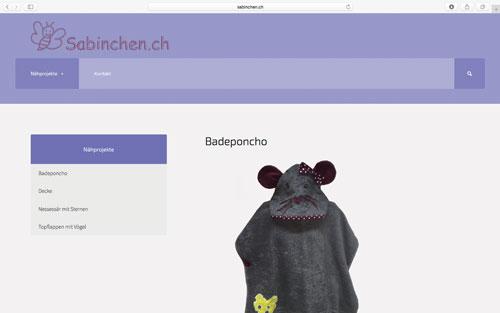 Webseite Sabinchen